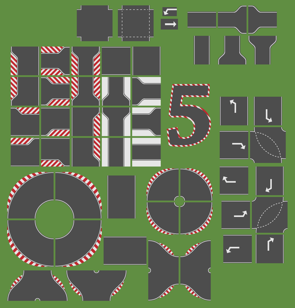 Race Track Tiles Opengameart Org