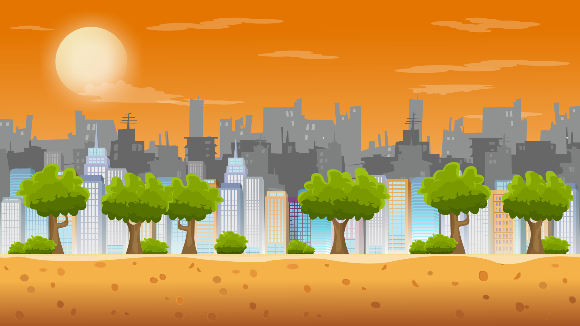 3 parallax backgrounds | opengameart