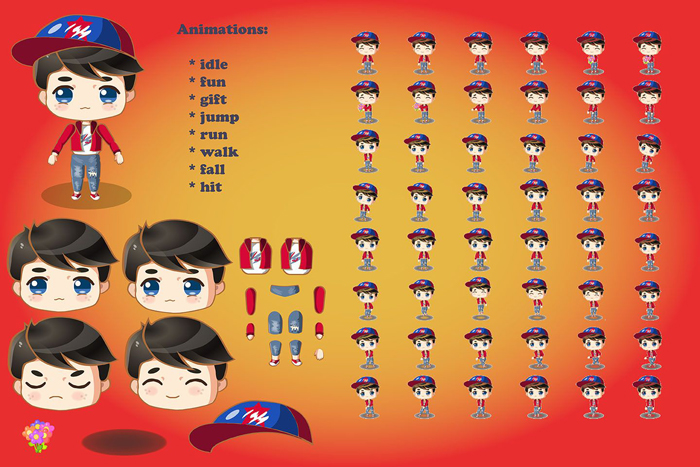 2D Game Chibi Boy Sprite | OpenGameArt org