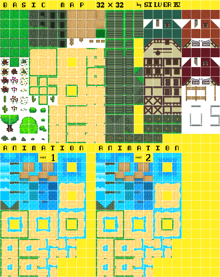 Basic Map 32x32 By Silver Iv Opengameart Org