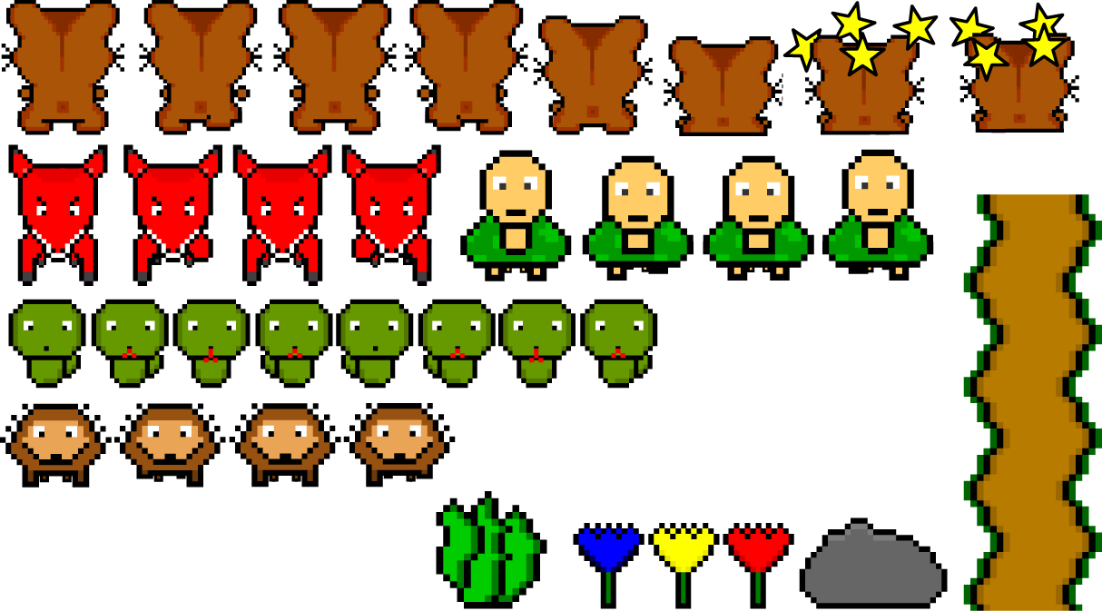 run hammy run spritesheet opengameart org