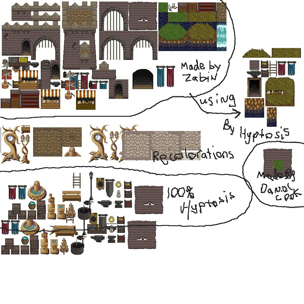 Castle Tiles for RPG's | OpenGameArt org