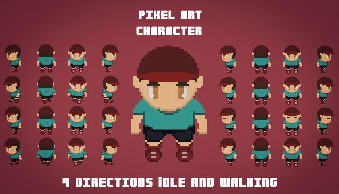 Pixel Art Character Opengameart Org