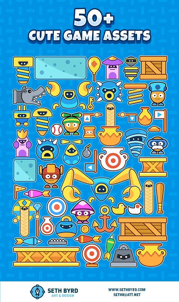 cute characters monsters and game assets opengameart org