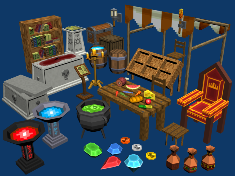 Pixel Dungeons Set1 - Props and stuff | OpenGameArt org