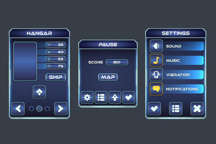 Space Shooter Game User Interface | OpenGameArt org