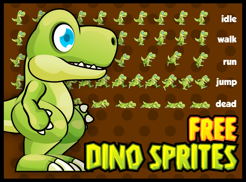 Free Dino Sprites   OpenGameArt org