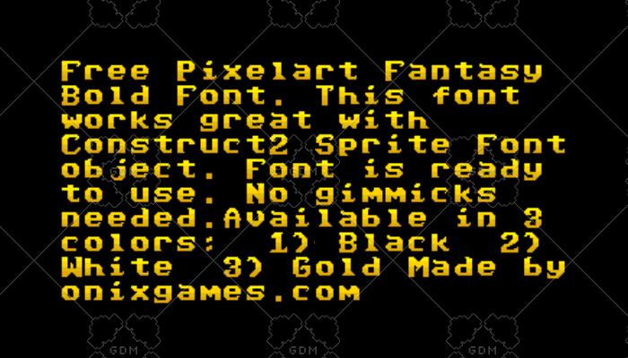 PixelArt Fantasy Font for Construct 2 | OpenGameArt org