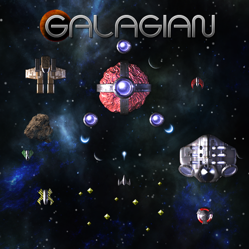 Galagian Space Shooter 3d Prerender Ships Backgruond Ui