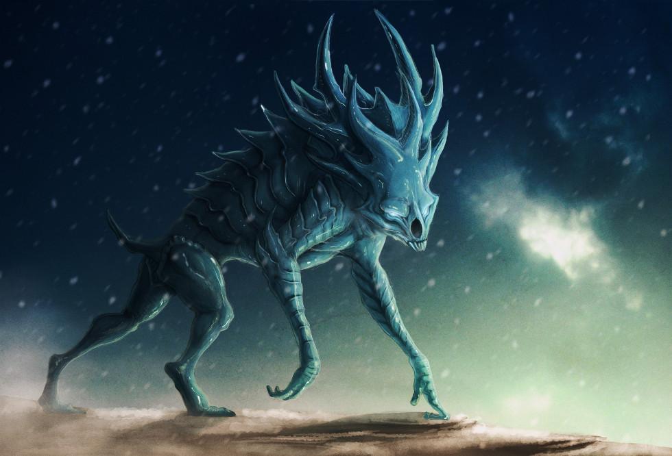 Ice Demon 2D AncientBeastcom creature OpenGameArtorg