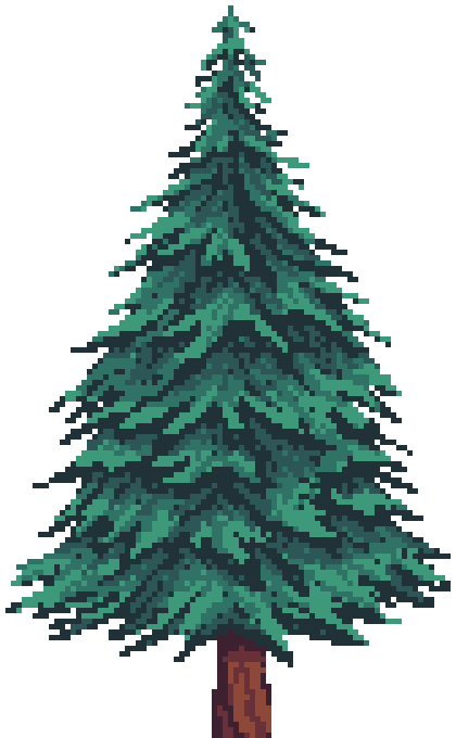 Pine Tree Pack | OpenGameArt.org | 420 x 680 png 11kB