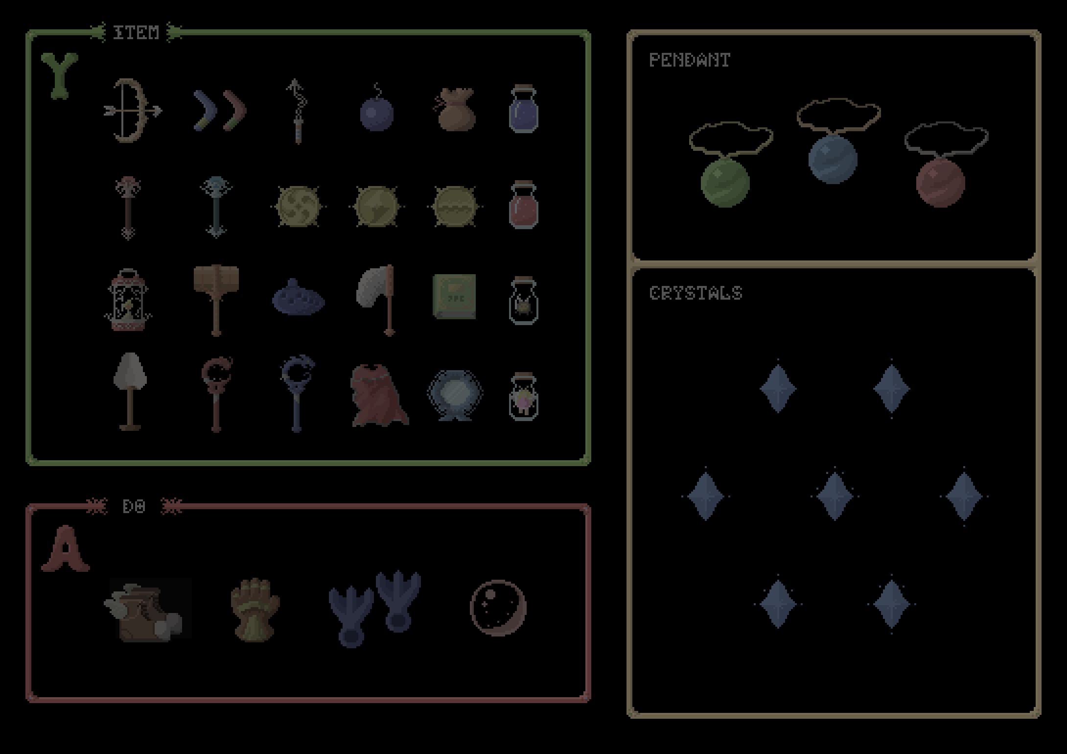Zelda: A Link to the past - items | OpenGameArt org