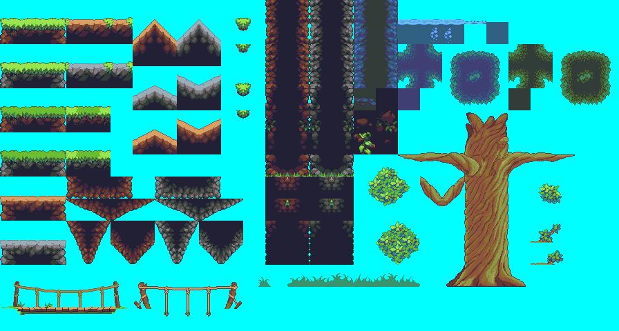 OPP Jungle Tiles | OpenGameArt org