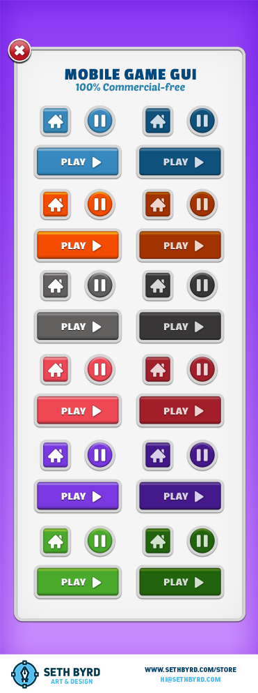 Mobile Game GUI Buttons   OpenGameArt org