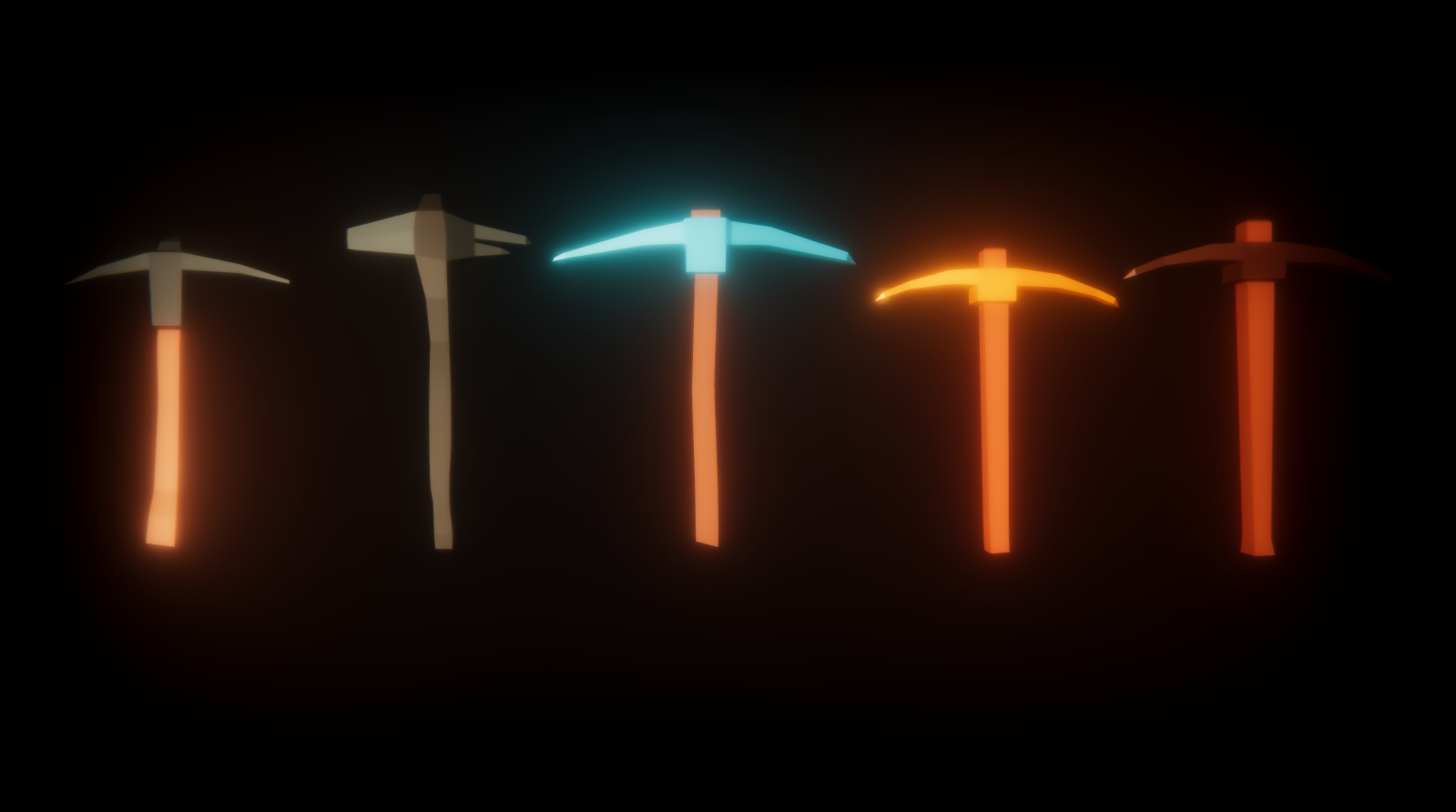 Pickaxes Low Poly Pack | OpenGameArt org