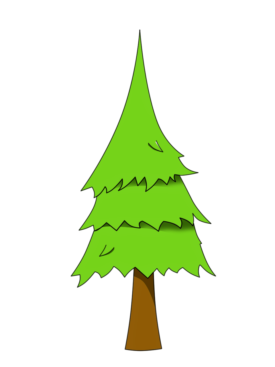 Pine tree (png) | OpenGameArt.org