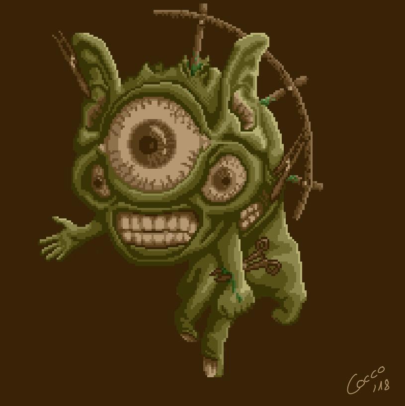64x64 Pixel Art : Grotesque Surreal Creature 7