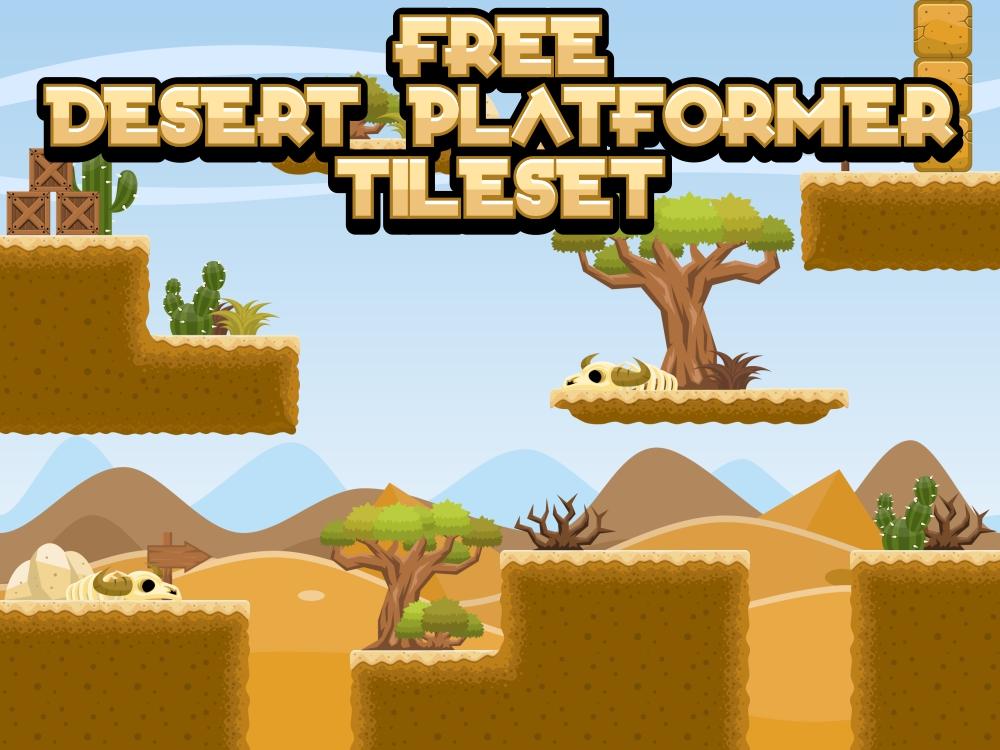 Free Desert Platformer Tileset | OpenGameArt org