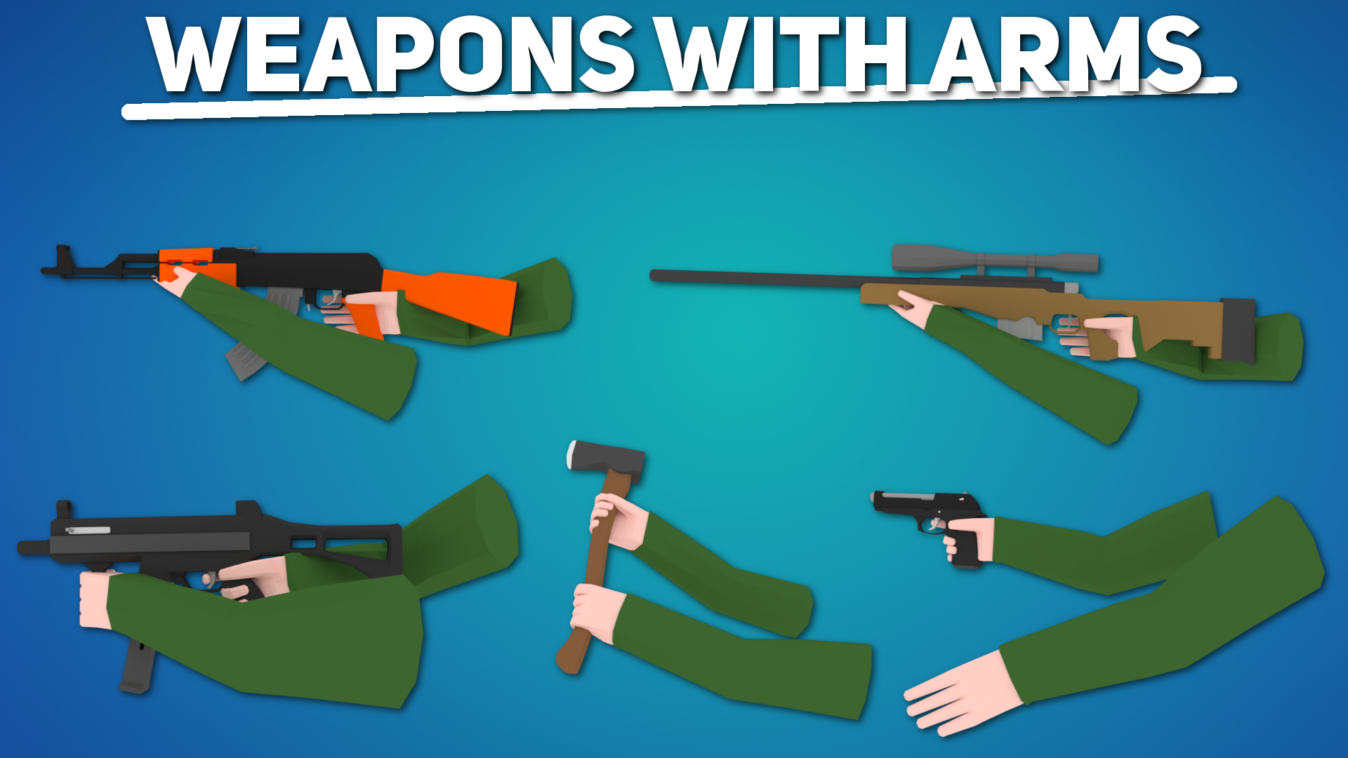 Low Poly - FPS Arms Pack | OpenGameArt org