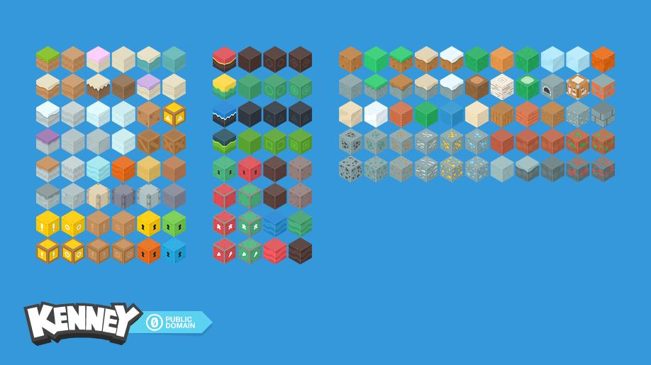 Isometric Blocks Opengameart Org