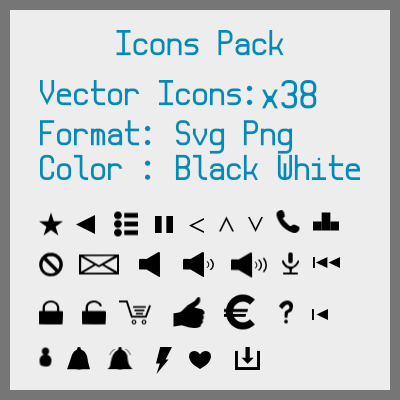 New Icons Pack   OpenGameArt org