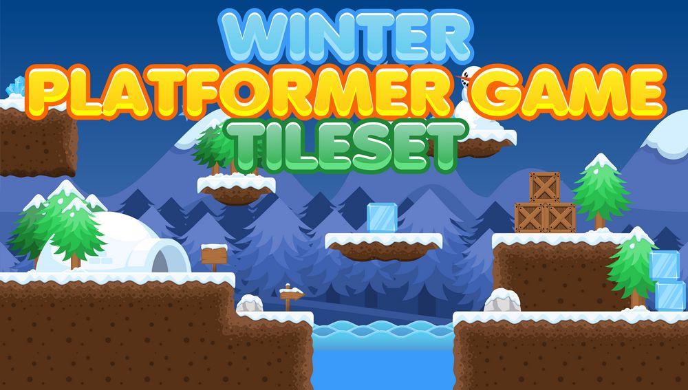 Winter Platformer Game Tileset Opengameart Org