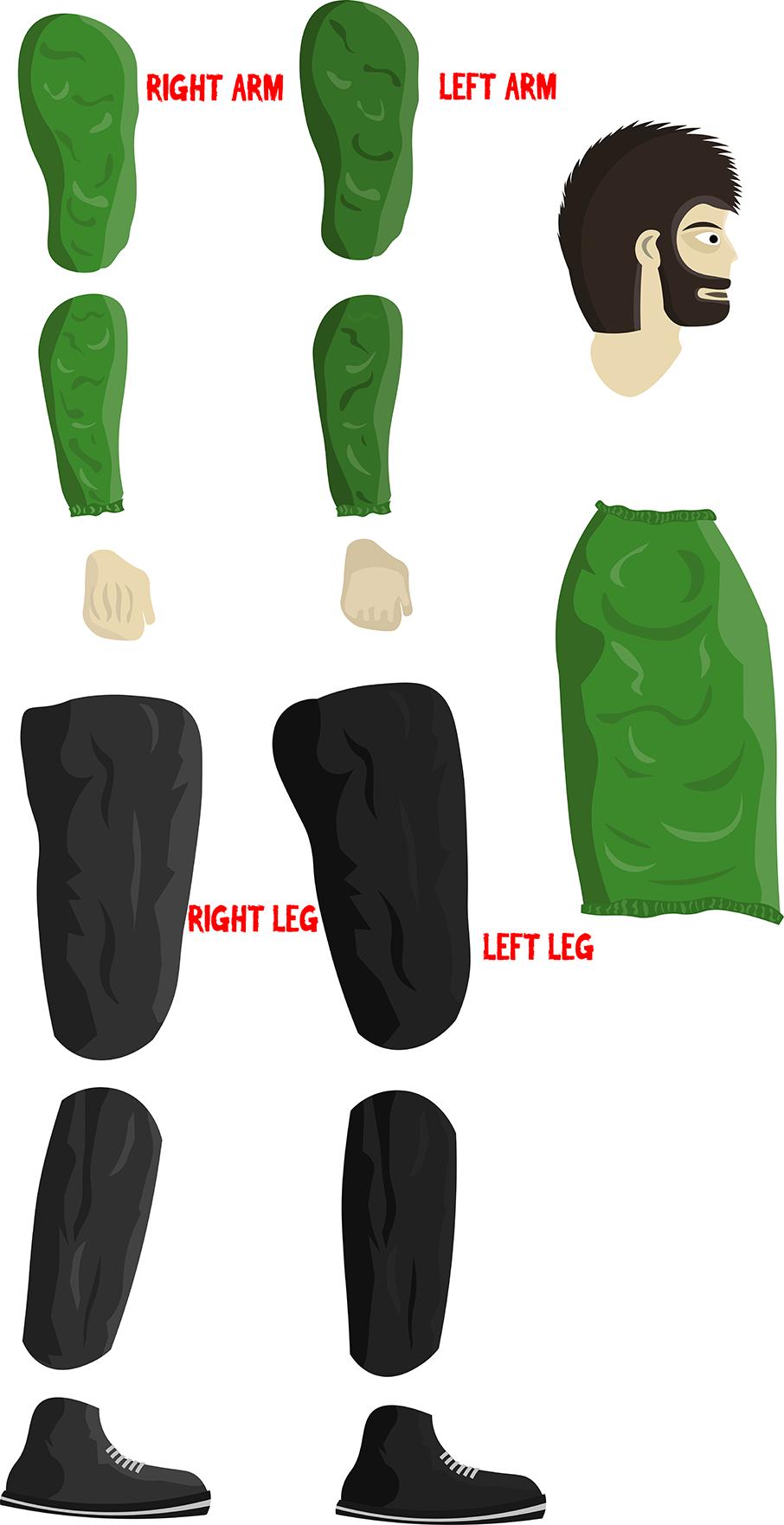 Flat Vector Design 2D Character | OpenGameArt org