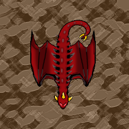 Red Dragon Top Down Style Opengameart Org