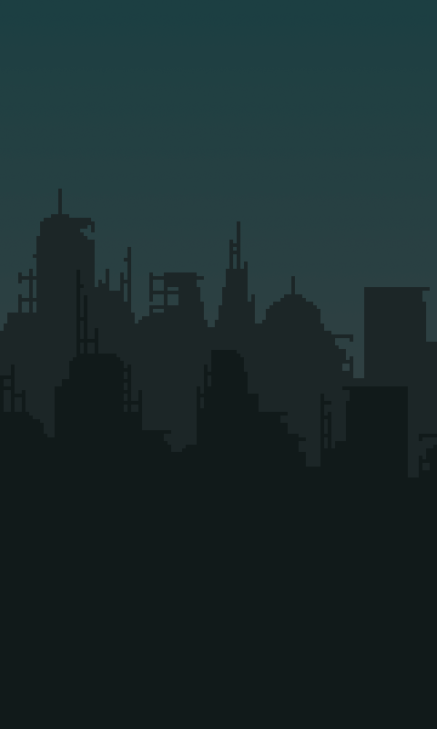 Ruined City Back...2d City Background