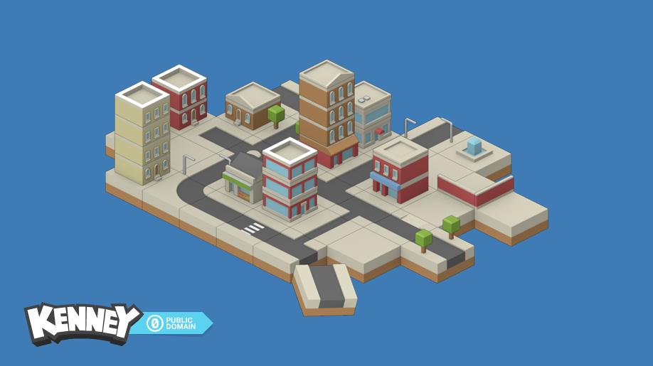 Isometric Buildings #1 | OpenGameArt org