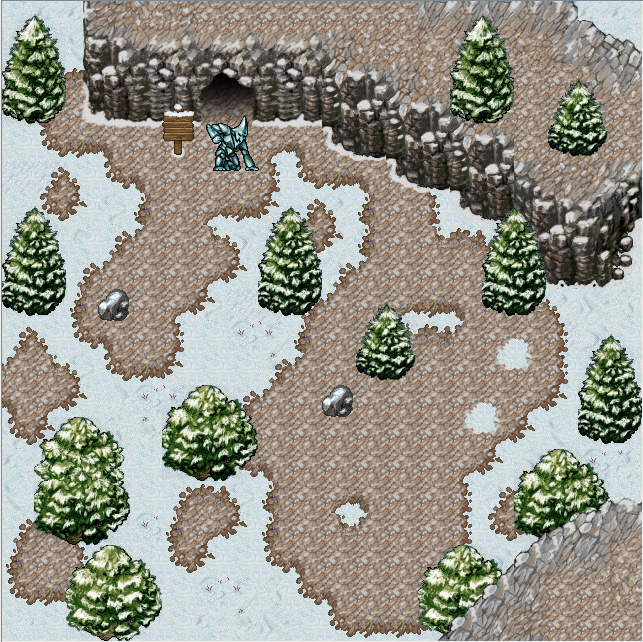 2d Lost Garden Zelda style tiles winter theme with
