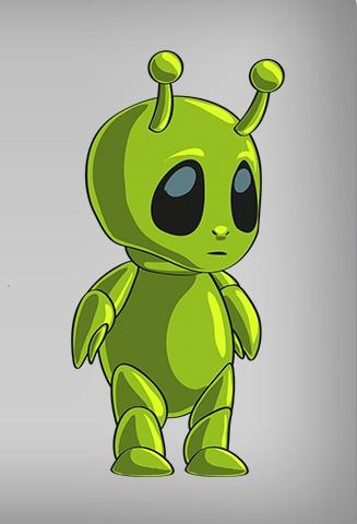 3d animation alien - 2 3