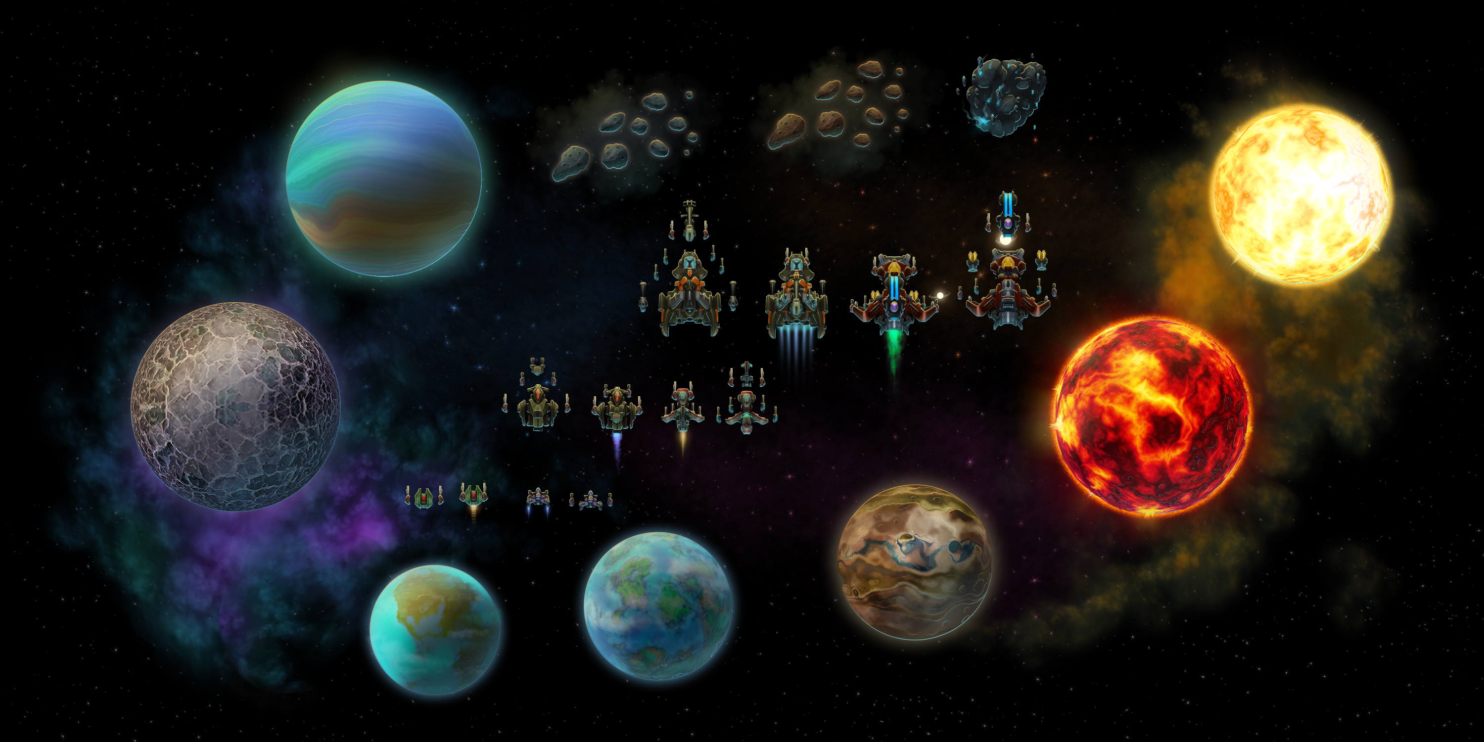 space game art pack extended opengameart org