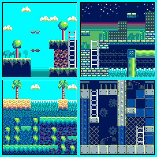 1 layer 8 bit 15 color 4 stages tileset opengameart org