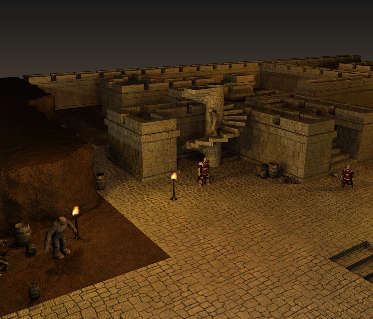 3d dungeon tileset 3d site