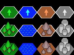 Minimalistic Hexagonal Tilesets Both Orientations Opengameartorg