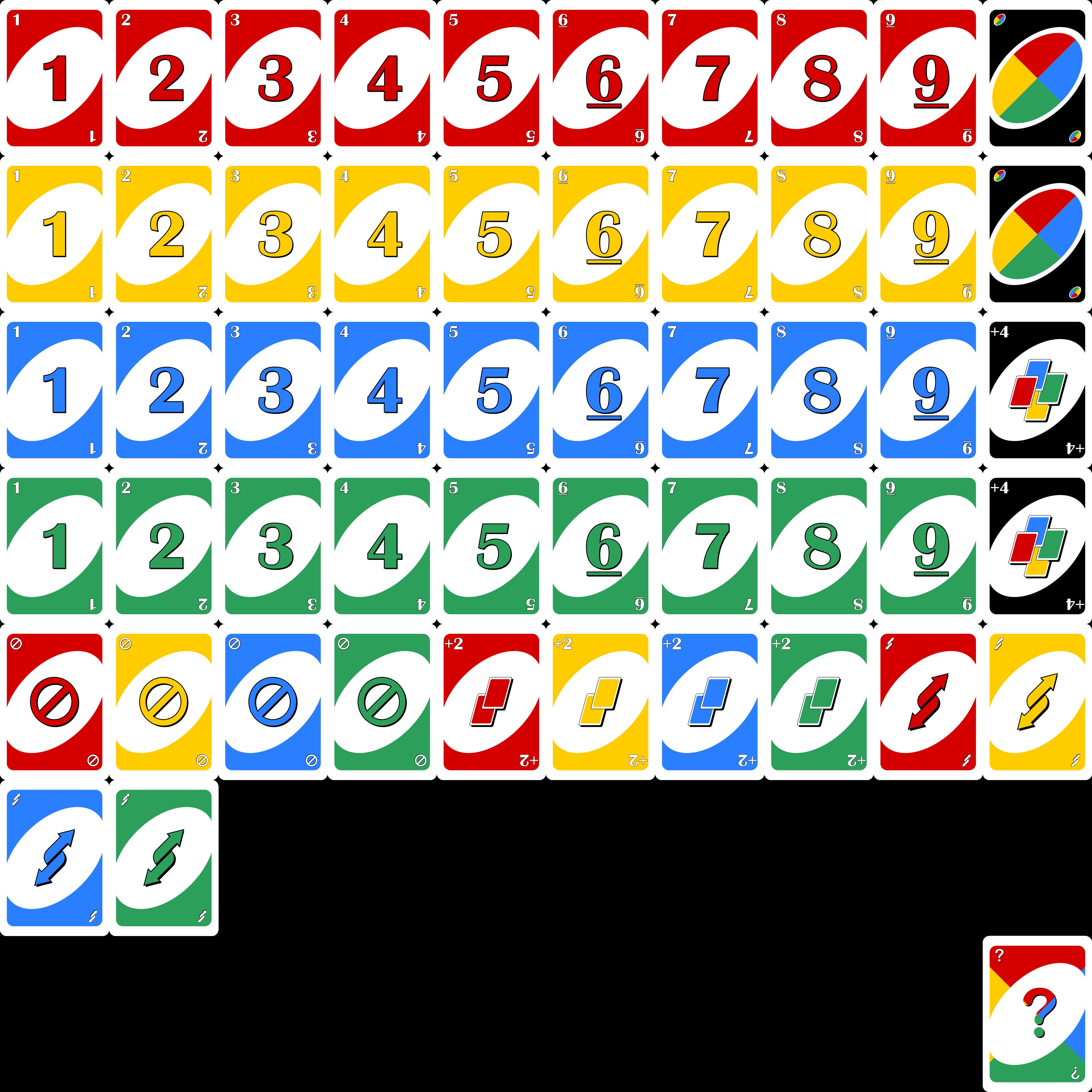 UNO OpenGameArtorg - Uno card template