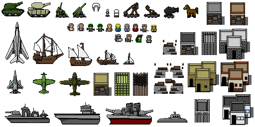 war of the ages pixel art sprite sheet