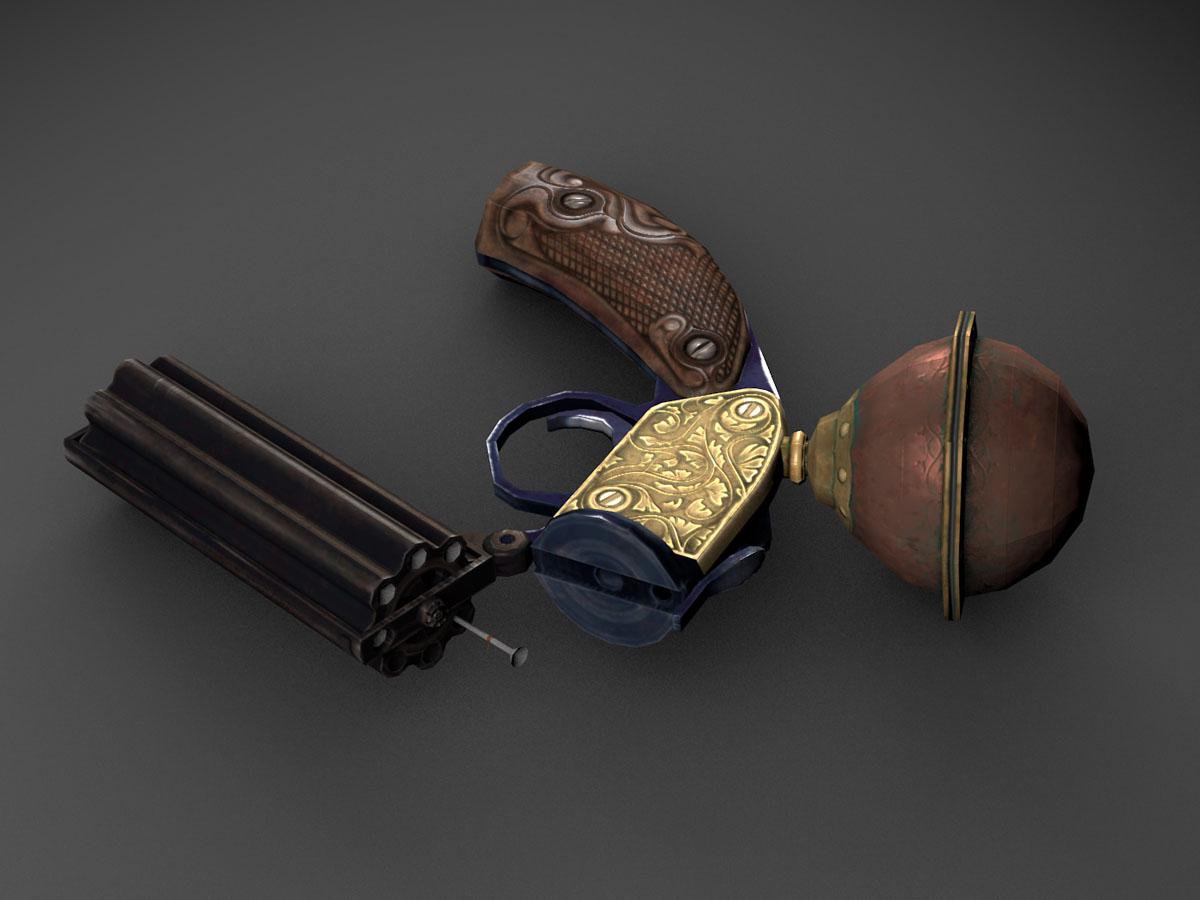 Victorian Pepperpot Air Gun Opengameart Org