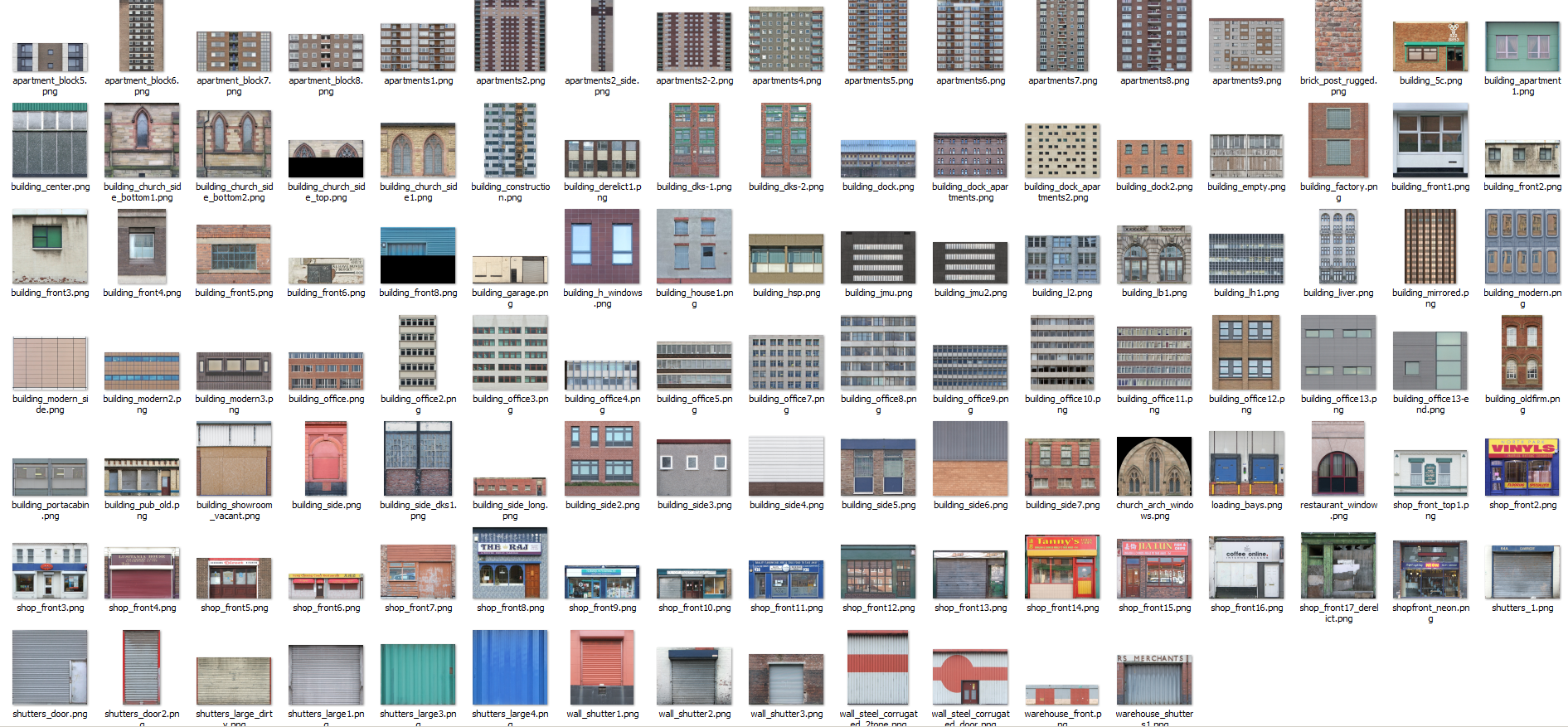 Free Urban Textures Buildings Apartments Shop Fronts