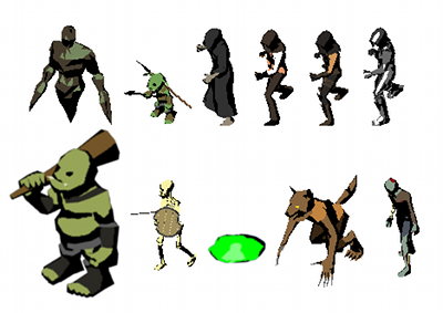 Isometric Hero and Creatures | OpenGameArt org