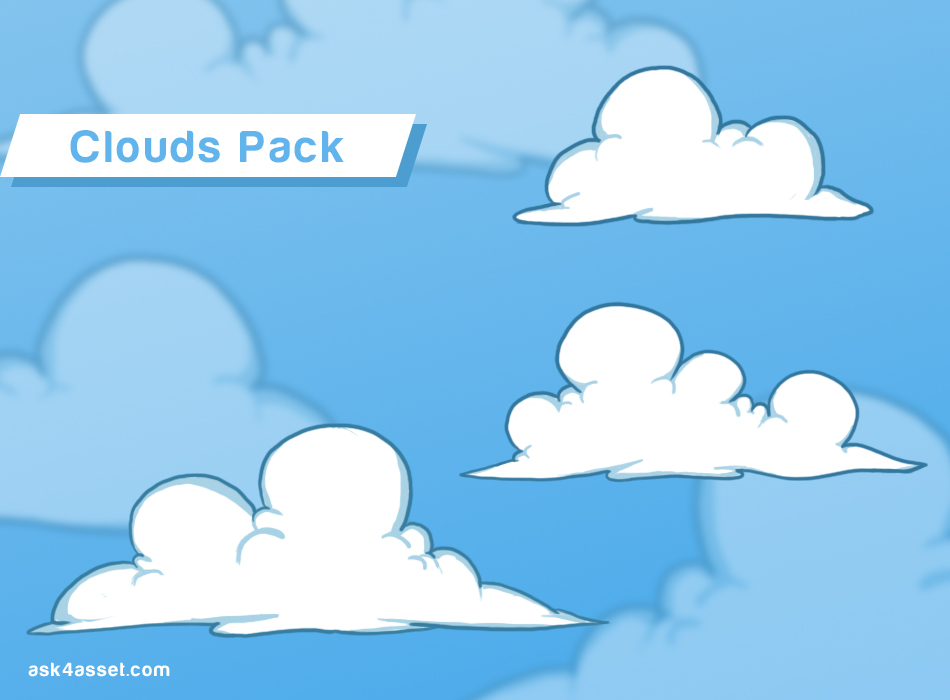 2D Clouds Pack | OpenGameArt org