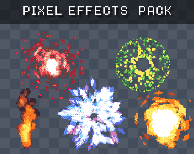 Free Pixel Effects Pack | OpenGameArt org