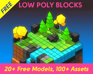 Free Low Poly Game Asset - 3D Blocks | OpenGameArt org