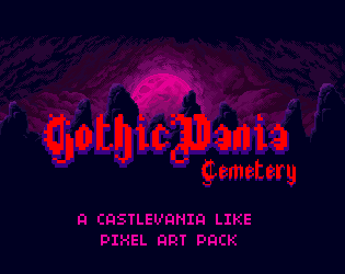 GothicVania Cemetery Pack | OpenGameArt org