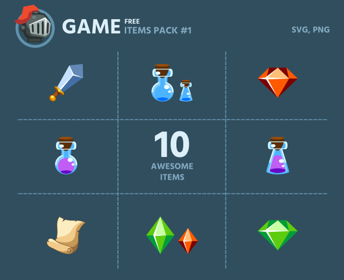 free game items pack 1 opengameartorg