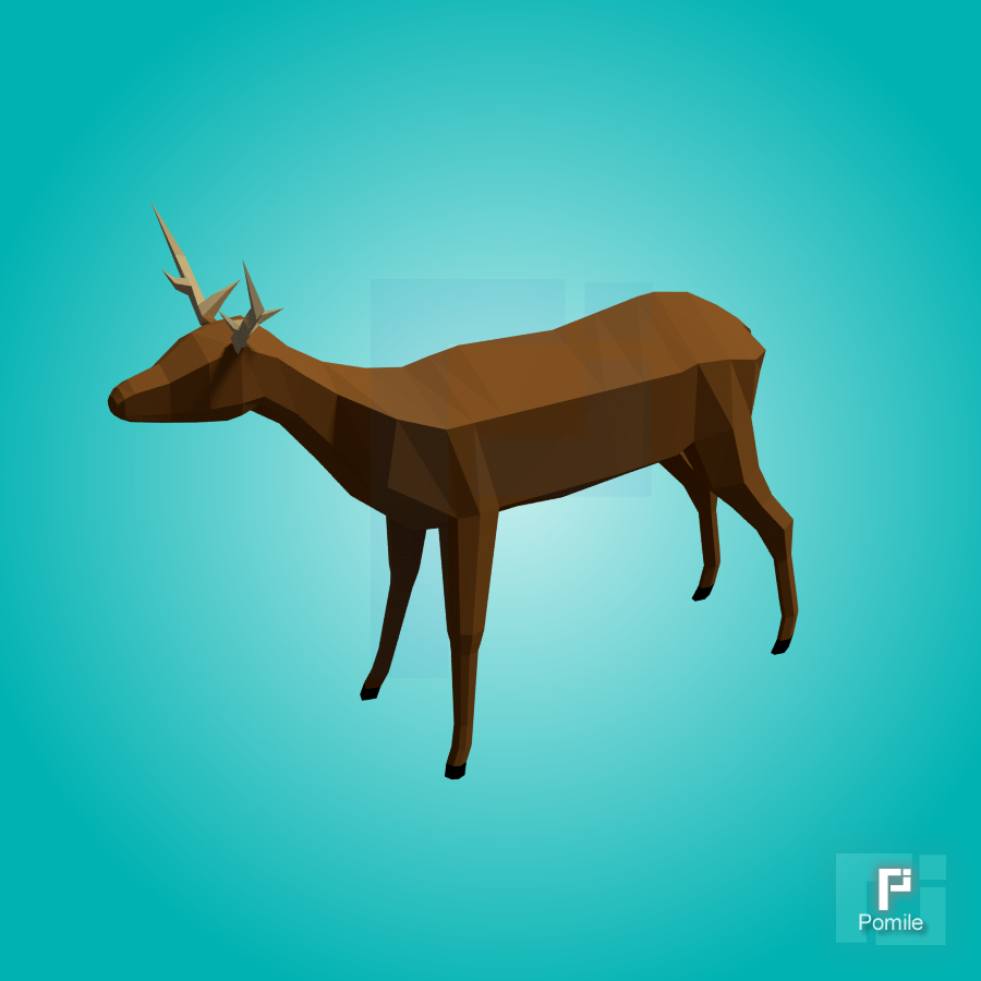 Deer Low Poly (rigged) | OpenGameArt org