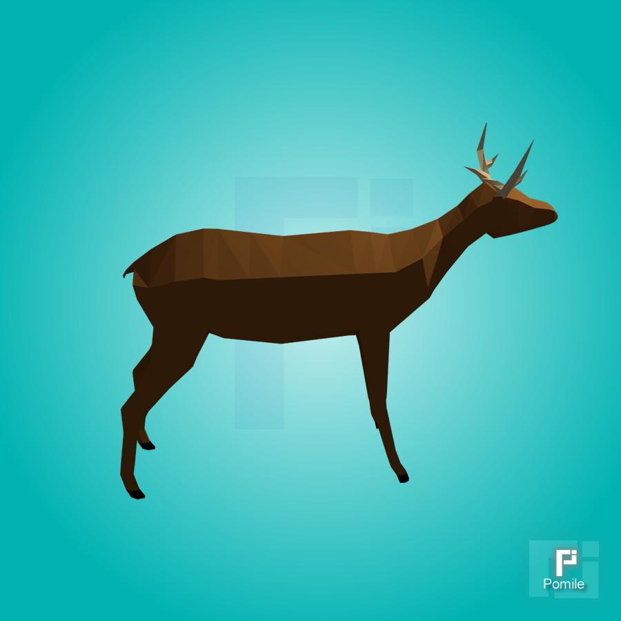 deer gray low poly - photo #31