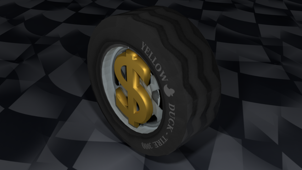 Wheel And Tire >> Dollar sign pimp wheel | OpenGameArt.org