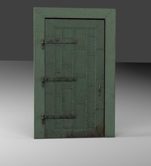 Industrial Metal Door Opengameart Org